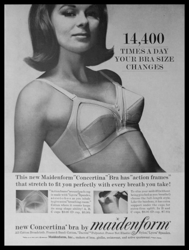 "1964 Ad Maidenform Concertina Bra | ""Action Frames"""