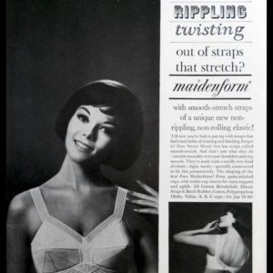 "1964 Maidenform ""Sweet Music"" Bra Vintage Print Ad - ""Smooth-Stretch"""
