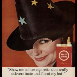 1966 Lucky Strike Cigarettes Vintage Ad | Witch Hat