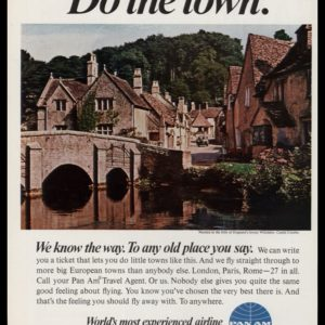 1967 Pan Am Airlines Vintage Ad | Castle Combe