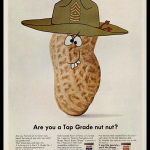 "1967 Skippy Peanut Butter Vintage Ad | ""Top Grade nut"""