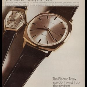 1967 Timex Electric Watch Vintage Ad