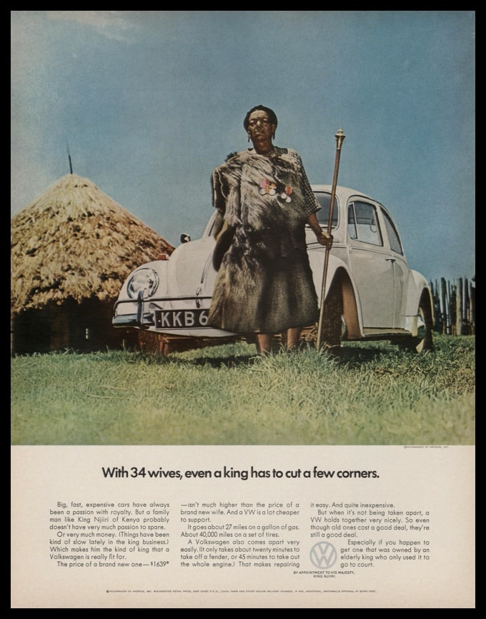 1967 VW Beetle Vintage Ad | King Njiiri~34 Wives