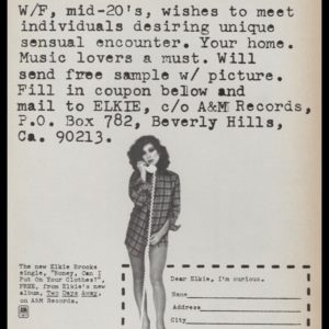 "1977 Elkie Brooks Album Promo Vintage Ad - ""Can I Put on Your Clothes"""