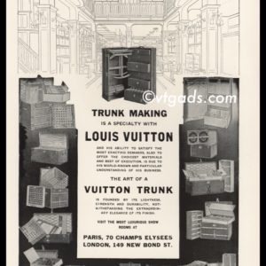 1925 Louis Vuitton Vintage Ad | Trunk Making Specialty