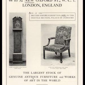 1925 M. Harris & Sons Vintage Ad | Antique Furniture