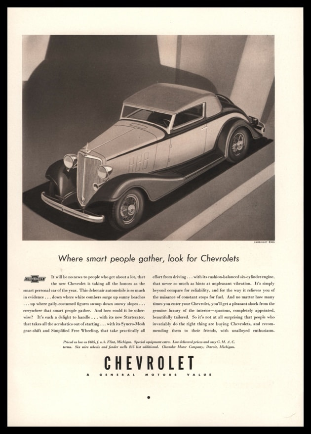 1933 Ad Chevrolet Cabriolet | Where Smart People Gather