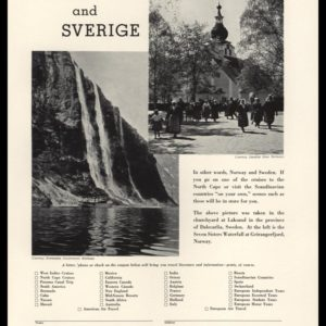 1933 Ad Town & Country Travel Bureau | Norway & Sweden
