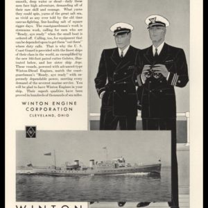 1933 Winton Engine Vintage Ad | USCGC Galatea