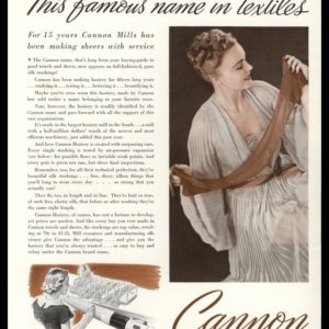 1938 Cannon Hosiery Vintage Ad | Pure Silk Sheer Stockings