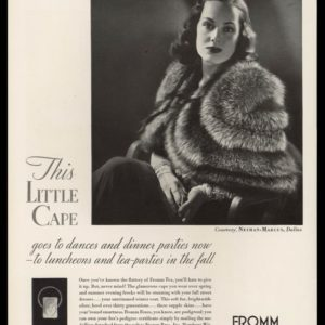 19 Fromm Bros. Vintage Ad | Fox Fur Cape