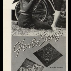 1938 Glentex Scarfs Vintage Ad | Chic Peasantry