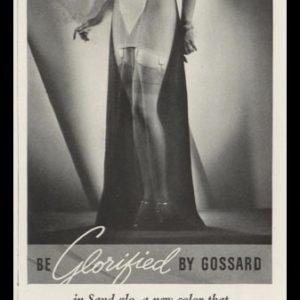 1938 Gossard Vintage Ad | Sand-Glo Foundation