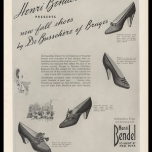 1938 Henri Bendel Vintage Ad | Shoes by DeBusschère of Bruges