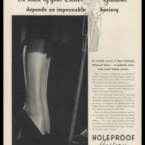 1938 Holeproof Hosiery Vintage Ad | Easter Glamour