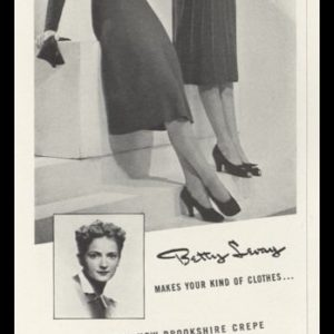 1938 Lord & Taylor Vintage Ad | Betty Levay Dresses
