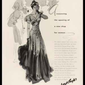 1938 Lord & Taylor Vintage Ad | New Shop for Women