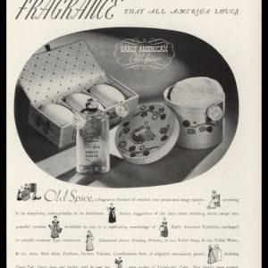 1938 Old Spice Early American Fragrance Toiletries Vintage Ad