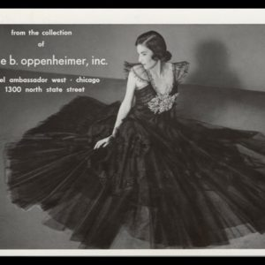 1940 Millie B. Oppenheimer Vintage Ad   Evening Gown