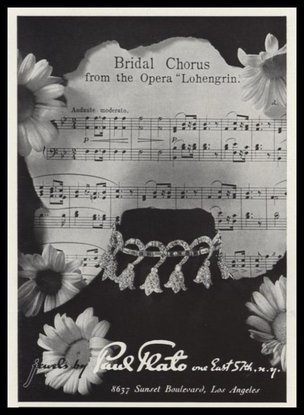 1940 Paul Flato Jewelry Vintage Ad | Bridal Chorus