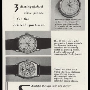 1940 Schulz Watches Vintage Ad | Sportsman