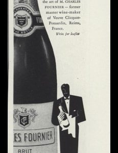 1947 Charles Fournier Champagne Vintage Ad