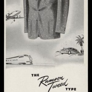 1947 Rumson Tweed Jacket Vintage Ad