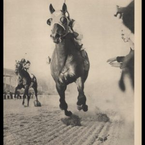 1947 Vintage Print | Seabiscuit Over War Admiral