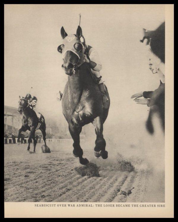 1947 Vintage Print | Seabiscuit Over War Admiral