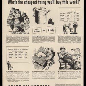 1947 Union Oil Co. Vintage Ad | Gas Prices