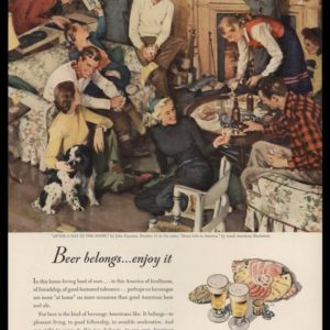 1947 U.S. Brewers Foundation Vintage Ad | John Gannam Art