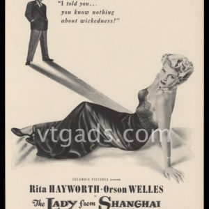 1948 Movie Ad | The Lady from Shanghai | Orson Welles