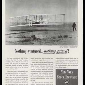 1948 New York Stock Exchange Vintage Ad | Wright Bros.
