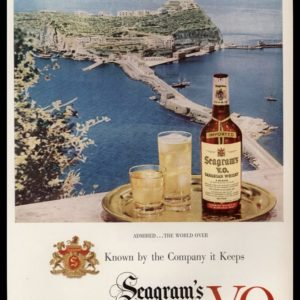1952 Seagram's V.O. Vintage Ad | Admired the World Over