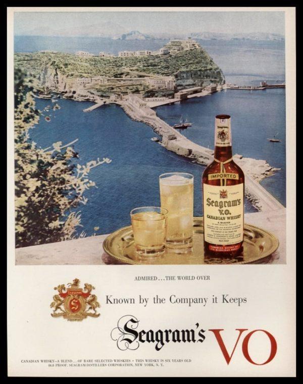 1952 Seagram's V.O. Vintage Ad | Admired the World Over