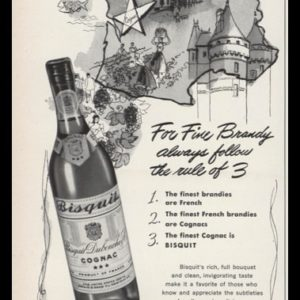 1952 Bisquit Cognac Vintage Ad | Rule of 3