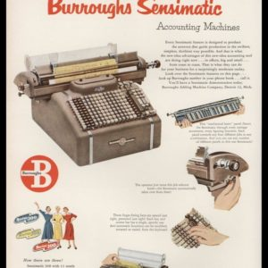 1952 Burroughs Adding Machine Vintage Ad