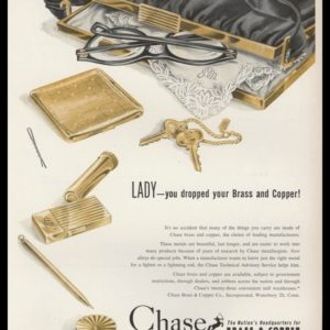 1952 Chase Brass & Copper Co. Vintage Ad | Ladies Accessories