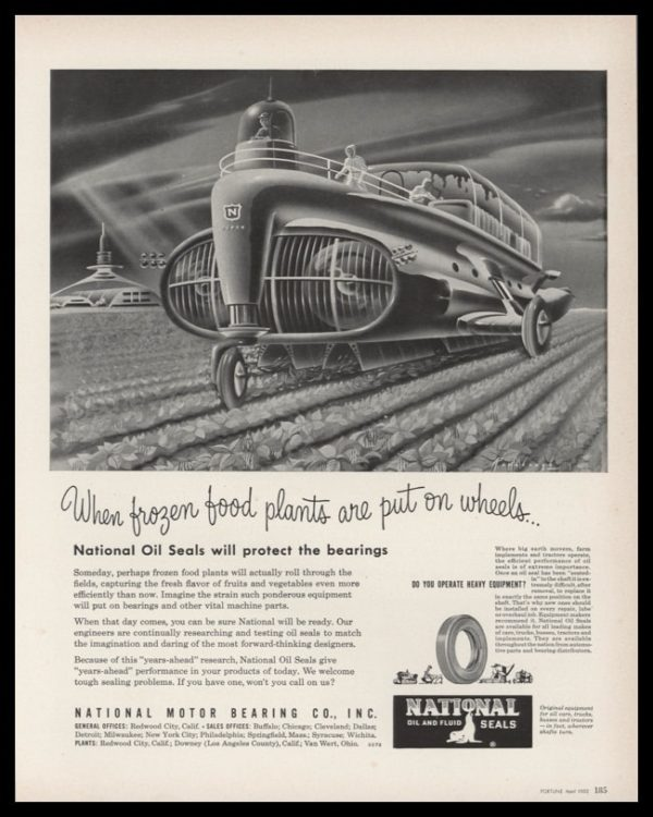 1952 National Oil Seals Vintage Ad | Radebaugh Tractor