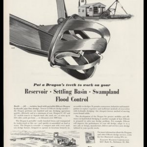 1953 Ellicott Dredges Vintage Ad | Dragon