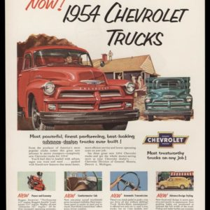 1954 Chevrolet Trucks Vintage Ad | Most Trustworthy