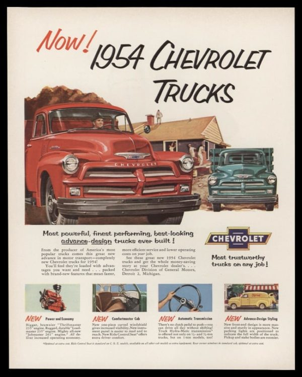 1954 Chevrolet Trucks Vintage Ad | Most Trustworthy