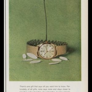 1963 Hamilton Men's Watches Vintage Ad | She Loves Me