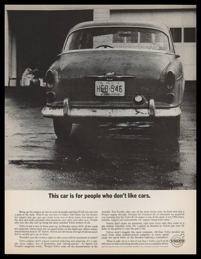 1963 Volvo Vintage Ad | For People Who Don't Like Cars