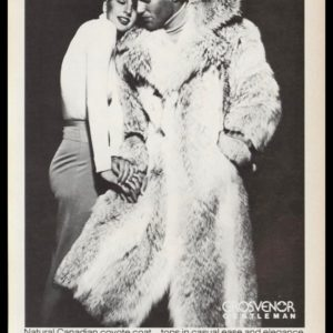1978 Bonwit Teller Vintage Ad | Men's Coyote Fur Coat