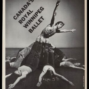 1978 Royal Winnipeg Ballet Vintage Ad | Jack Mitchell Photo