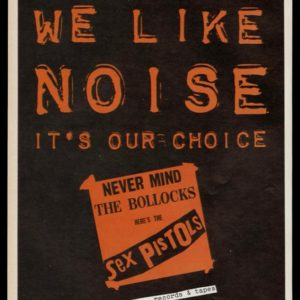 1978 Sex Pistols Album Vintage Ad | Never Mind the Bollocks