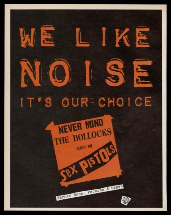 1978 Sex Pistols Album Vintage Ad | Never Mind the Bollocks