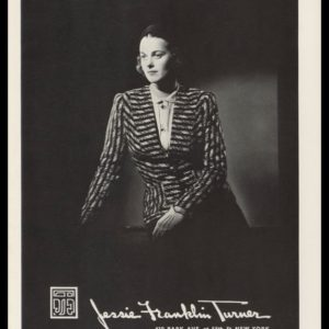 1938 Jessie Franklin Turner Vintage Ad | Striped Jacket