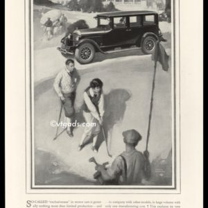 1925 Studebaker Vintage Ad | Harry Slater Golf Art